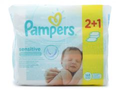 Pampers Baby Wipes Sensitive 3x56 Μωρομάντηλα