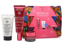 Apivita Beautiful You Wine Elixir Day Cream SPF30 40ml & Cleansing Milk 3in1 50ml & Wine Elixir Night 15ml